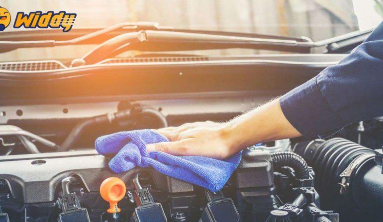 Cách rửa xe, vệ sinh khoang máy tại nhà