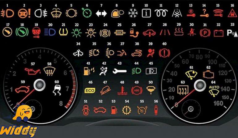 Ý nghĩa 64 ký hiệu biểu tượng đèn báo lỗi trên xe ô tô