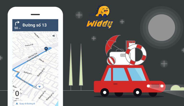 Lái xe ban đêm an toàn với ứng dụng điều hướng Widdy